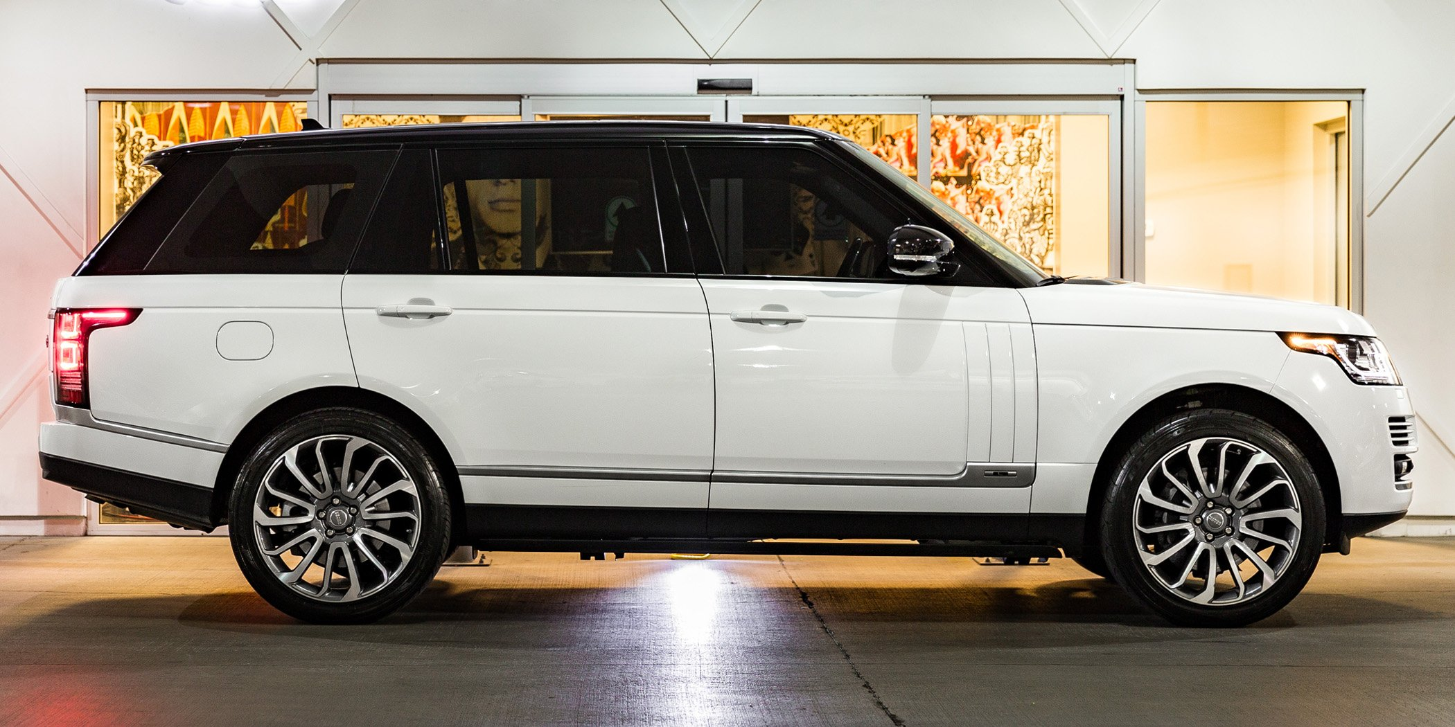 white Range Rover LWB Supercharged
