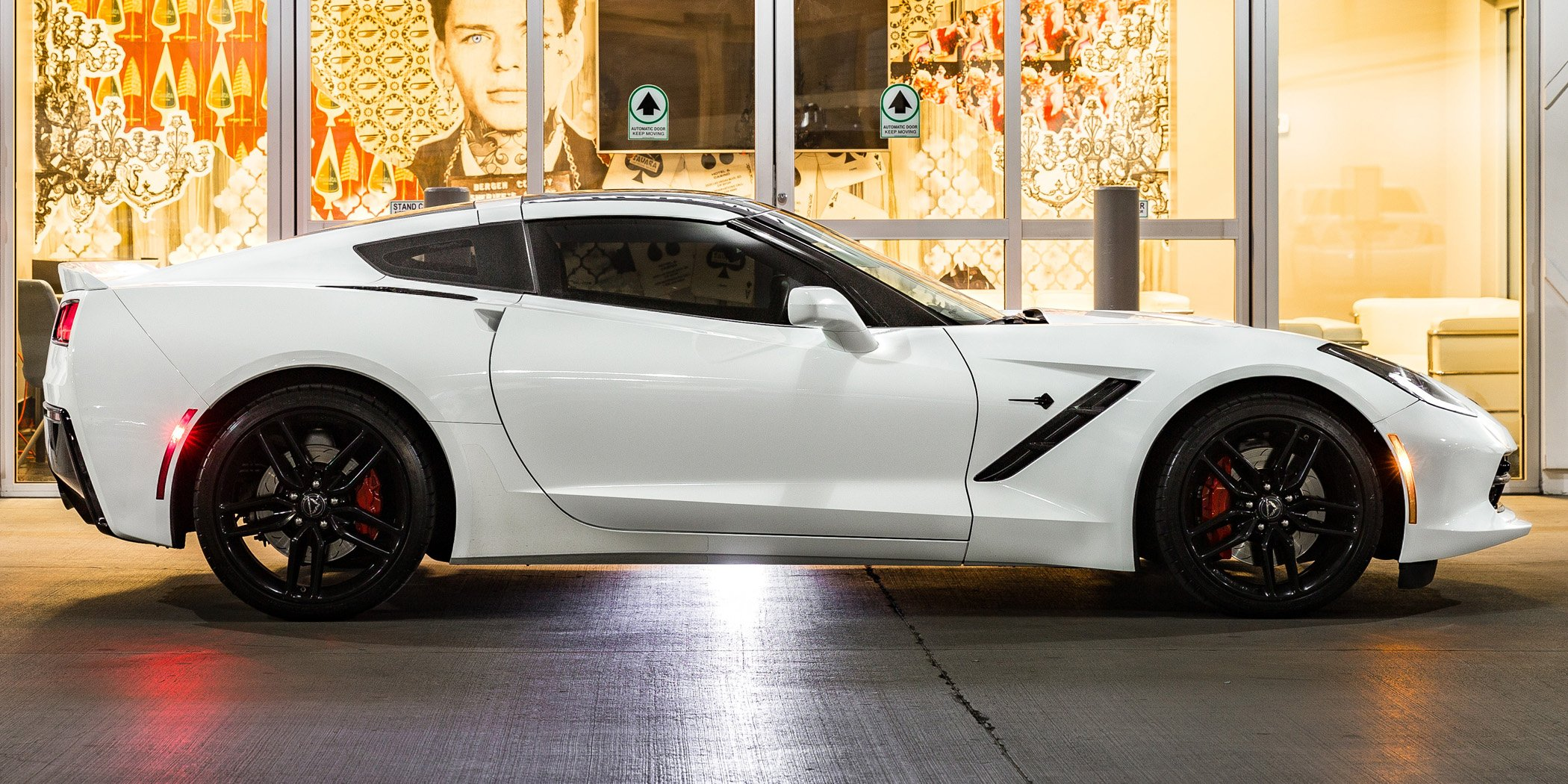 white Corvette Stingray